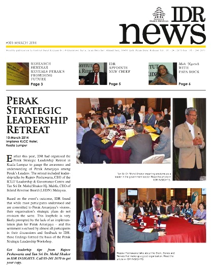 IDR NEWS MARCH 2014